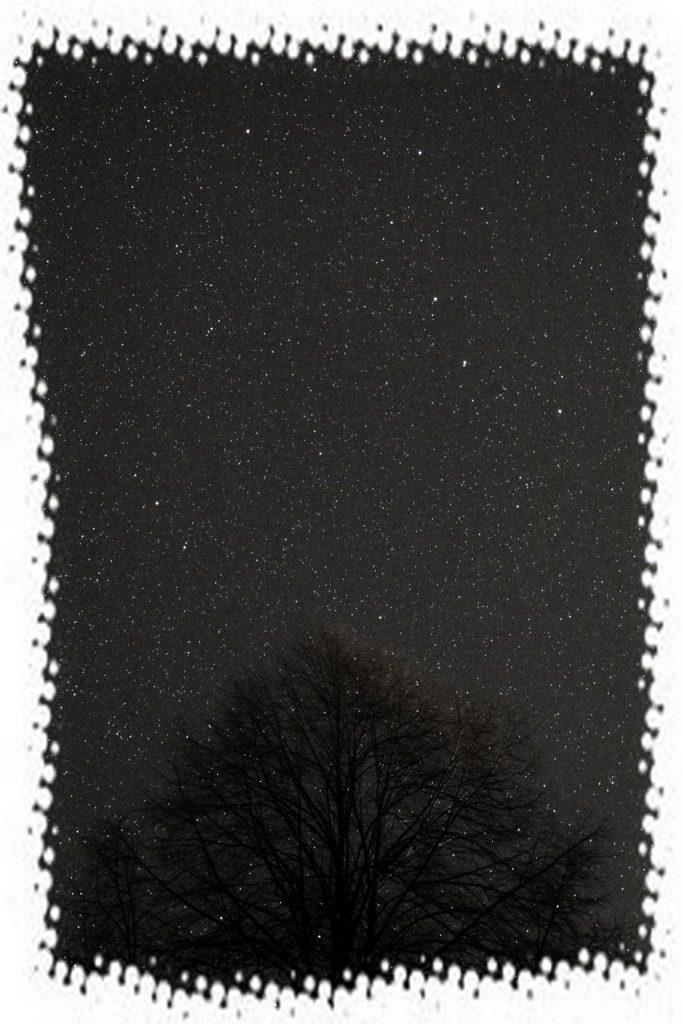 Nočná obloha so súhvezdím Veľký voz