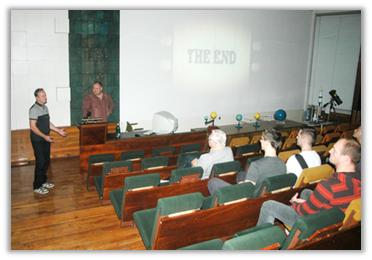 Fotografia z prednáškovej sály HaP počas prednášky