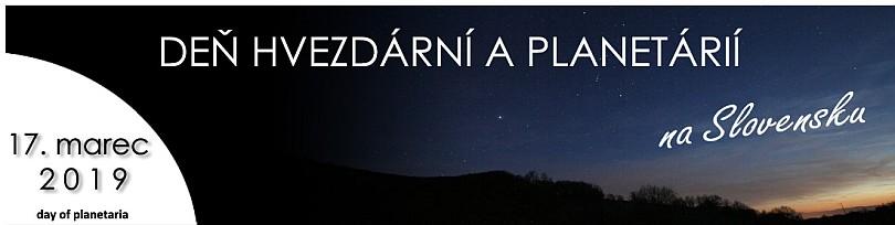 Deň hvezdární a planetárií na Slovensku - 17. marec 2019