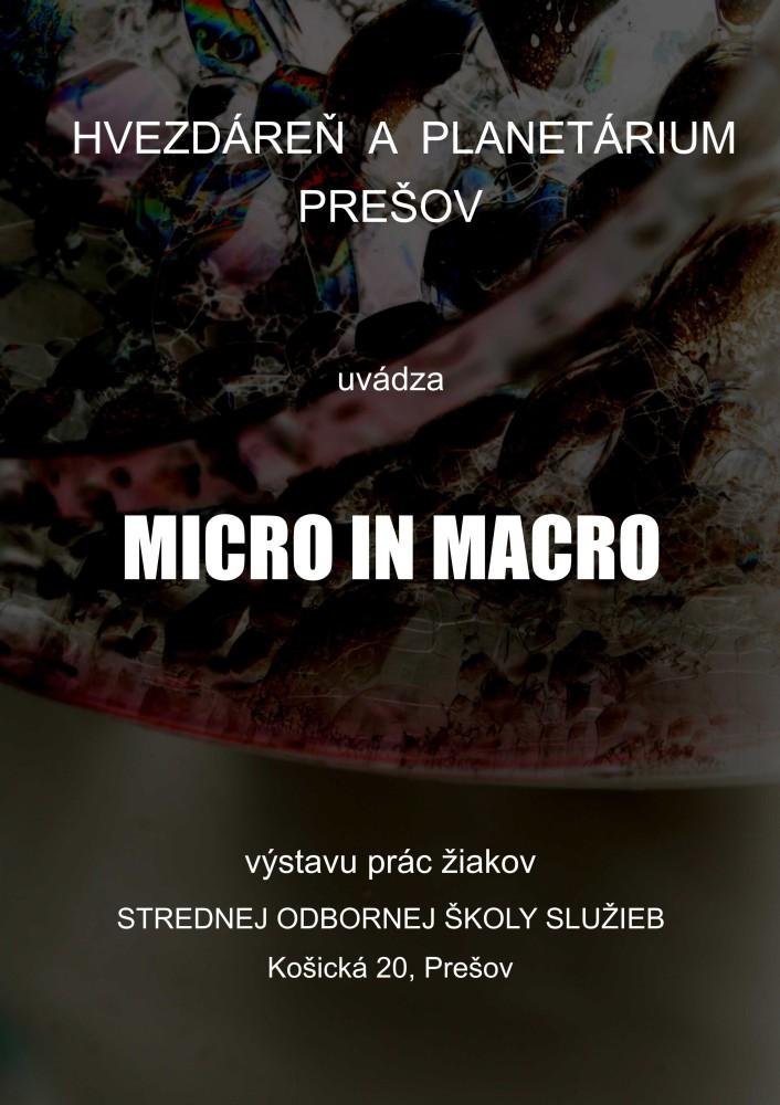 Výstava micro in macro v budove planetária